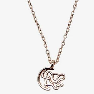 Disney's Lion King Dainty Simba Drawing Necklace